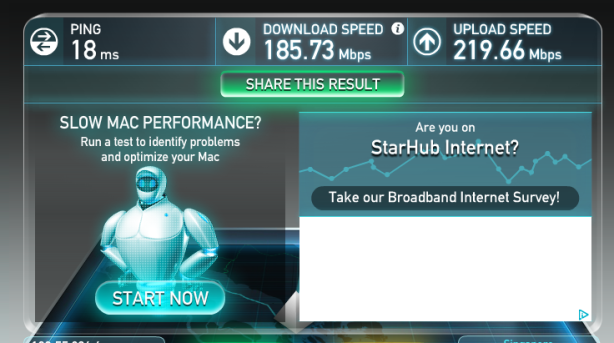 ViewQuest fibre broadband speed test