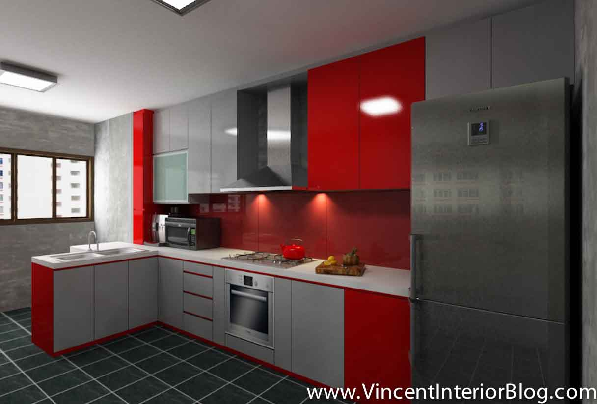 Kitchen design singapore hdb flat for Small flat kitchen design