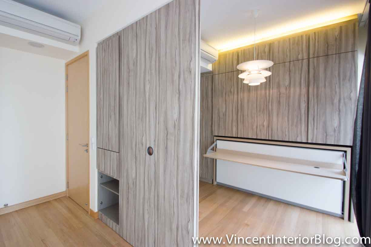 hidden closet door ideas - Singapore Condominium Parc Seabreeze renovation by Raymond